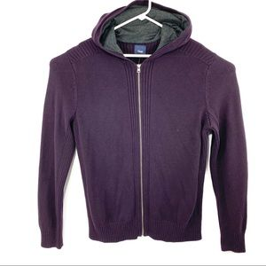 Gap Men's L Zip Up Hoodie Knit Cotton Sweater